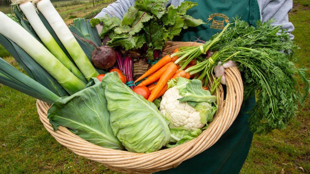 Durleighmarsh Farm Shop - fresh veg